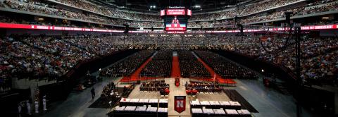 Commencement ceremony at Pinnacle Bank Arena