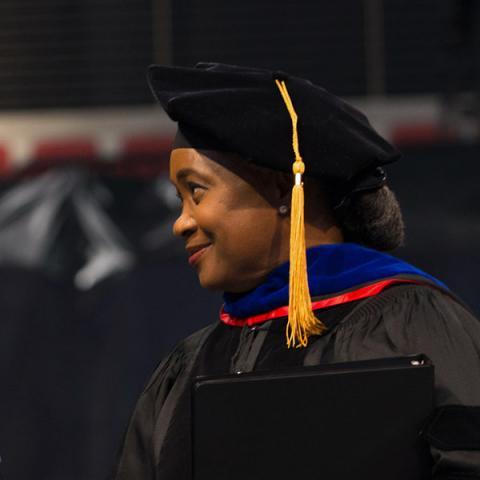 Barbara Hendricks receiving honorary degree at UNL
